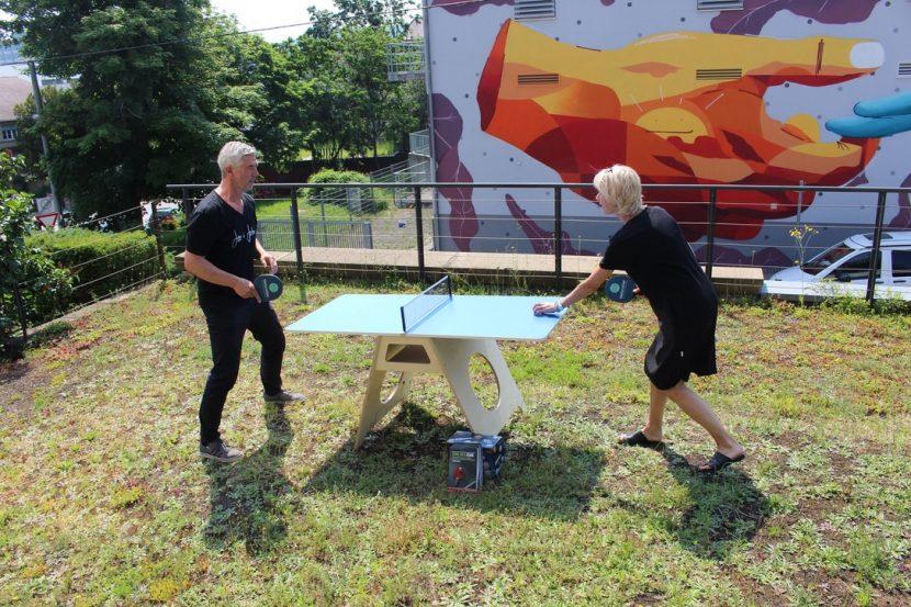 Minitischtennisplatte t-pong blaues haus Stuttgart